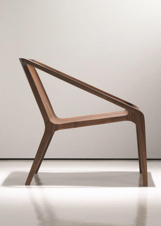 Wooden easy #chair with armrests LOFT by NURUS #design Shelly - designer mobel timothy schreiber stil