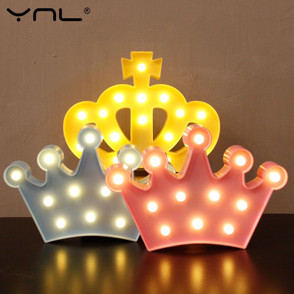 Crown 3d led night light table lamp lovely flamingo cactus star crown 3d led night light table lamp lovely flamingo cactus star cloud christmas fairy cartoon bedroom aloadofball