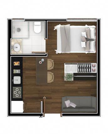 Resultado De Imagem Para Planta Apartamento Studio Apartamentopequenoideias Deco Petit Appartement Plan Petite Maison Plan Maison