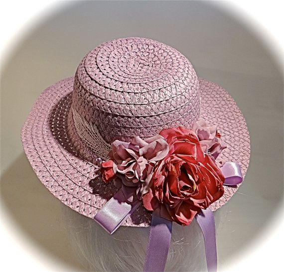 Girls Easter Bonnet Sun Hats Flower Girl Tea Party Hat Gh 104 Etsy Tea Party Hats Girls Tea Party Girl With Hat