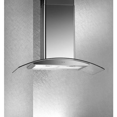 ARDA - Island Hood - Curved Glass, 500 CFM, 36 Inch - HAE89-900MM - Home Depot Canada