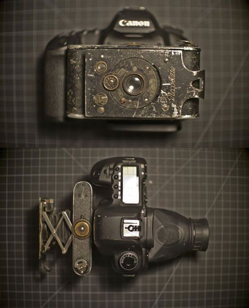 Canon 5D Mark II Combined with an Old German Folding Camera is part of Old camera - Photography and Camera News, Reviews, and Inspiration