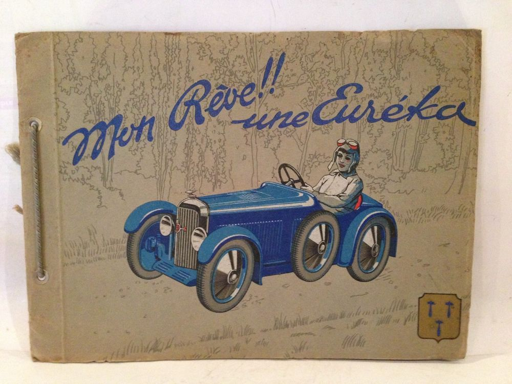 C 16 Voiture Pedale Catalogue Jouet Eureka Ancien Pages 1935 Rare tsrCdBoxhQ