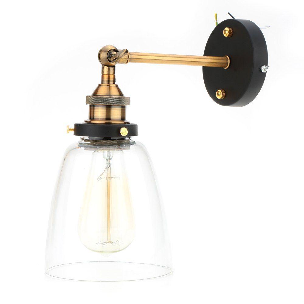 Gunstige Vintage E27 Glas Wandleuchter Lampen Retro Wand Montiert