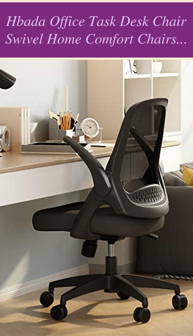 Guest Bedroom Simple Hbada Office Task Desk Chair Swivel Home Comfort Chairs With Flip Up In 2020