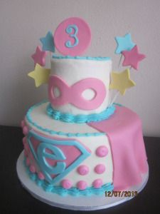 Superhero Girl Cake Kinders Kupcakes Pinterest Girl cakes