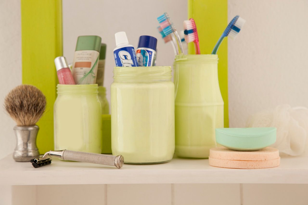 Porta escova de dentes artesanal