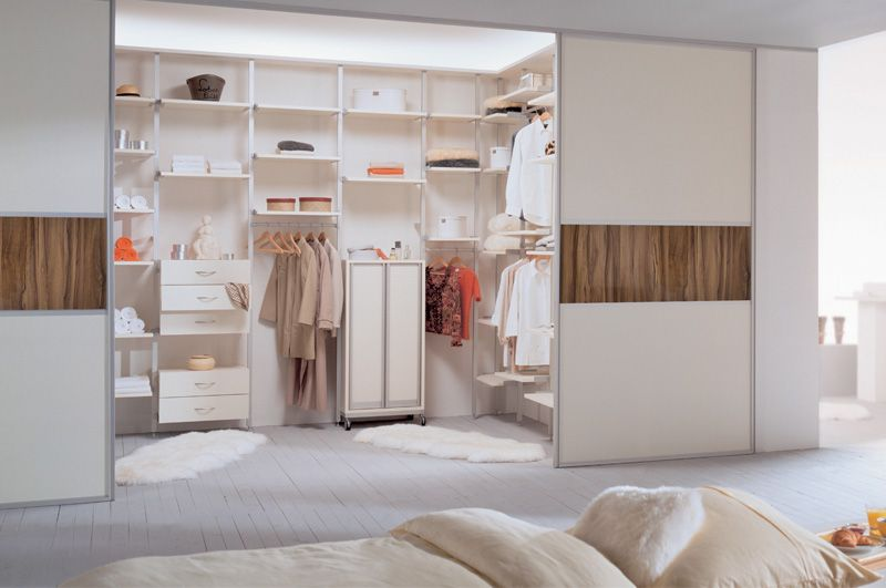 Sliderobes fitted sliding door wardrobe in white ash and high gloss walnut & Sliderobes fitted sliding door wardrobe in white ash and high gloss ...