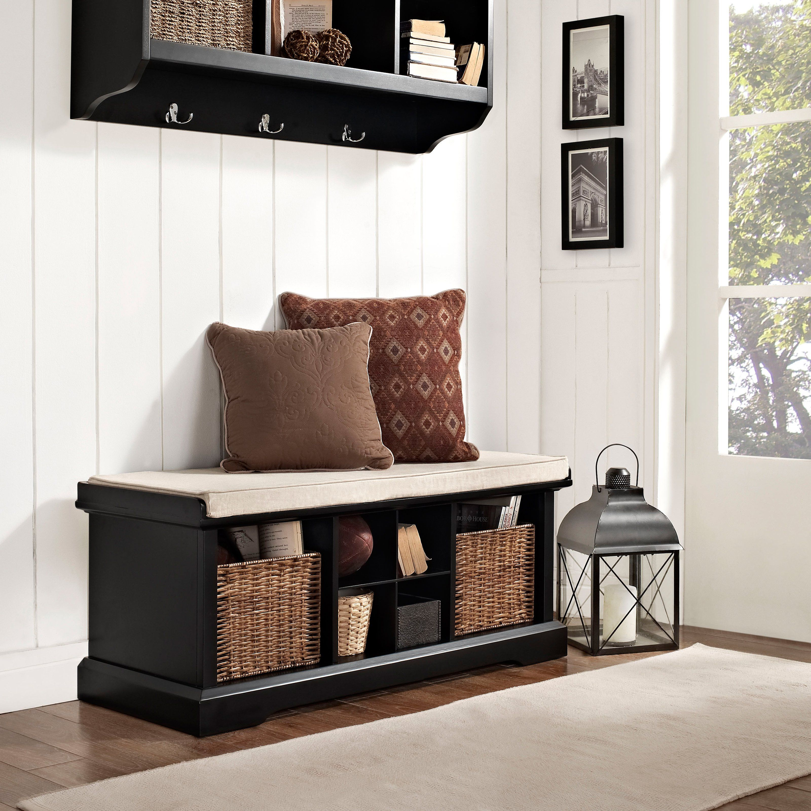 Entryway Storage Bench Large And Small Cubbies For Shoes And Baskets With Images Living Room Bench Entryway Bench Storage Entryway Storage