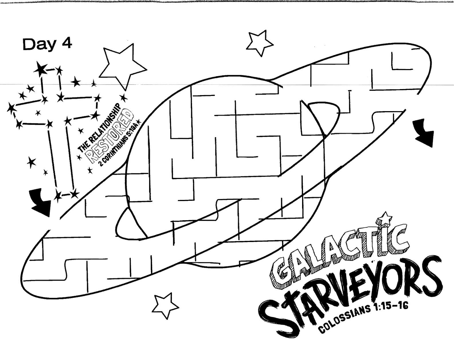Galactic Starveyors Coloring Sheet Vbs