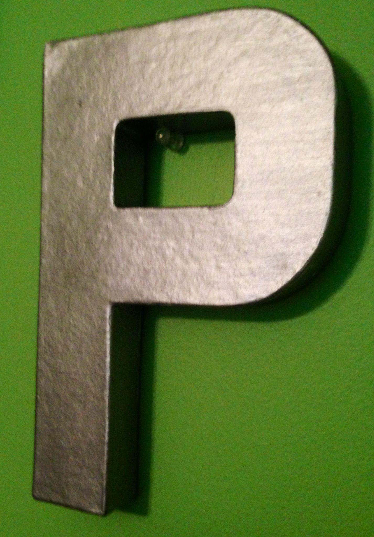 Spray Painted Cardboard Letter From Hobby Lobby To Look Like Anthropologie Metallic Metal Letter Cardboard Letters Metal Letters Spray Paint