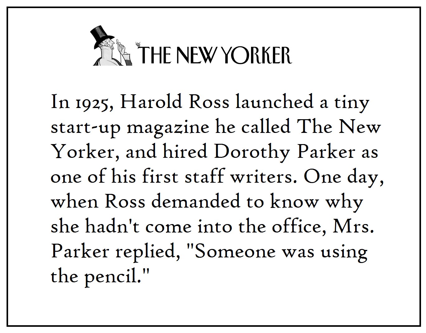 ~via Dorothy Parker, FB  Resume By Dorothy Parker
