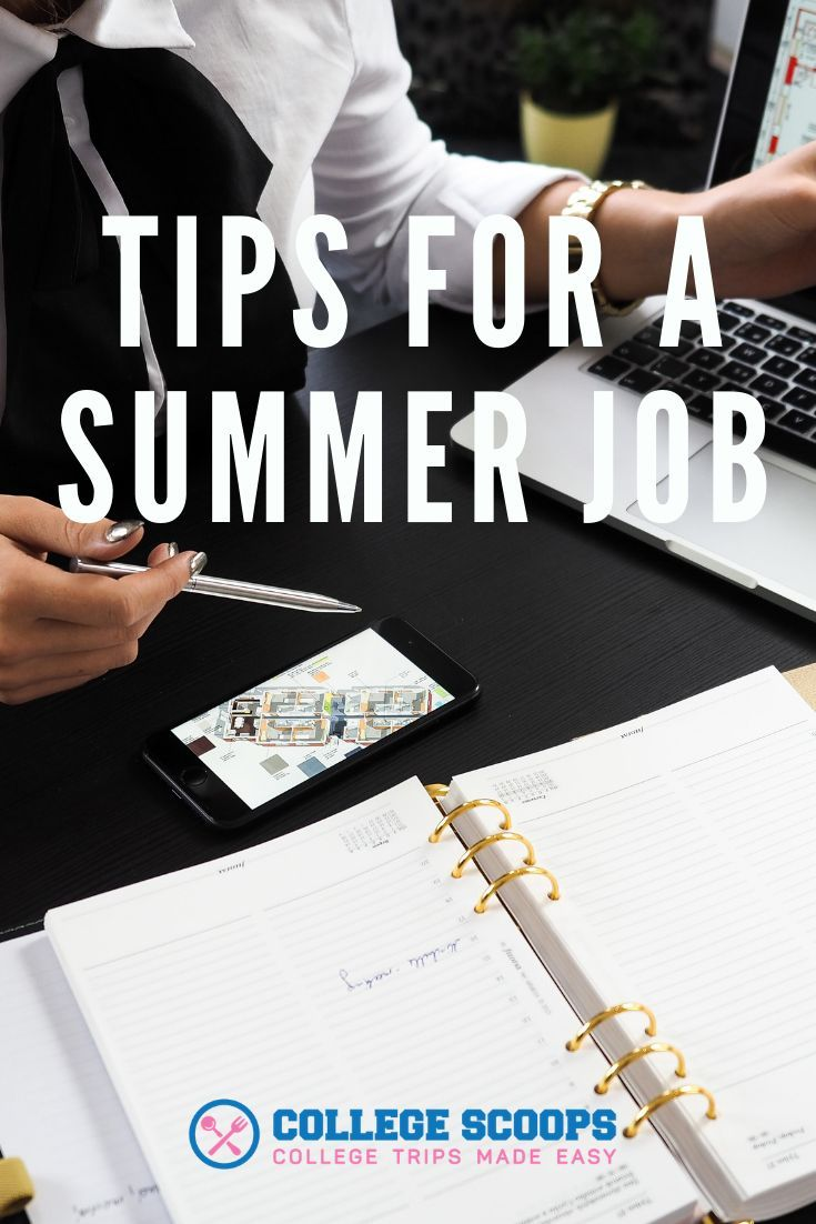 Tips for a Summer Job