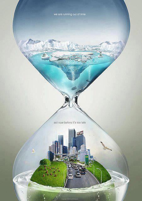 Reloj naturaleza y ciudad.