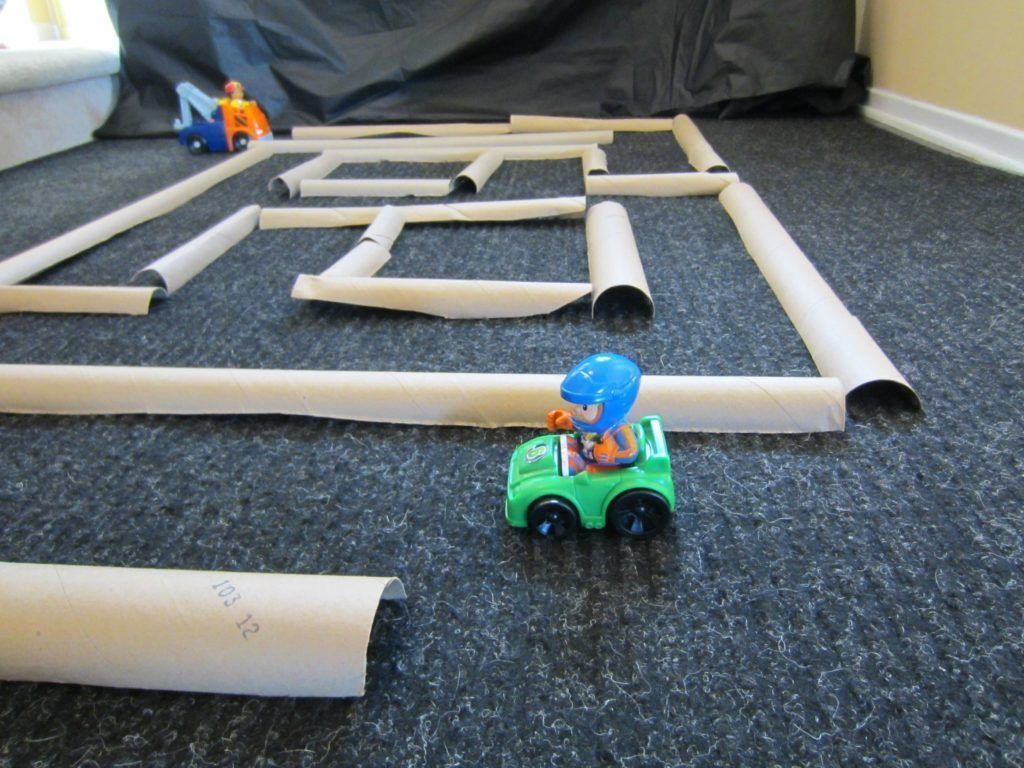 Easy cardboard tube maze provides hours of fun how to run a home