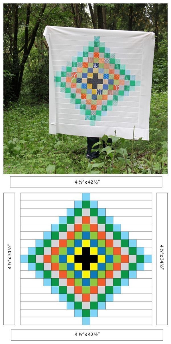Chippewa Scrap Quilt is part of Scrap quilts, Pixel quilting, Rainbow quilt, Farm quilt, Colorful quilts, Scrap quilt patterns - I promise I didn't forget to share how to make this little quilt…I think it's the only thing I didn't forget last month! ;) My brain is fried from moving and spray painting and kid enterta…