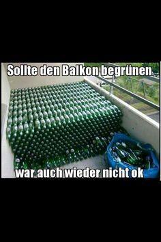 Sollte den Balkon begrünen . ..