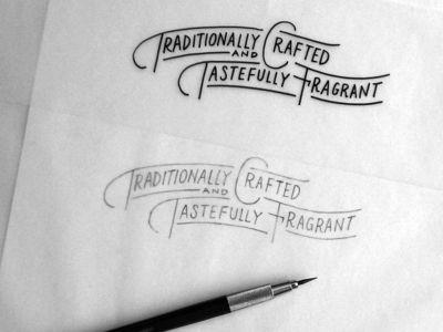 Six typography logos and typo