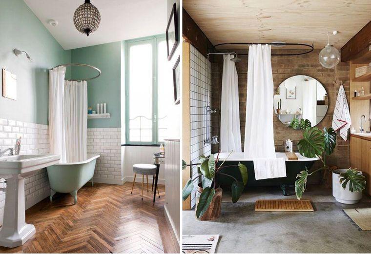 Inspiration décoration salle de bain. Une vielle baignoire ...