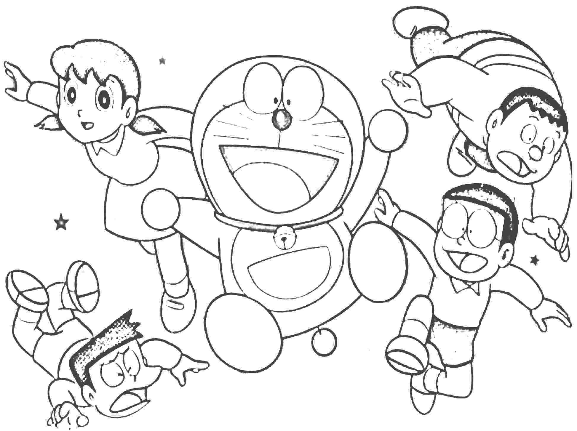Cheerful Doraemon Coloring Book Makes Your Toddlers Love To Color Doraemon Is A Japanese Anime Series Writt Love Coloring Pages Coloring Pages Coloring Books