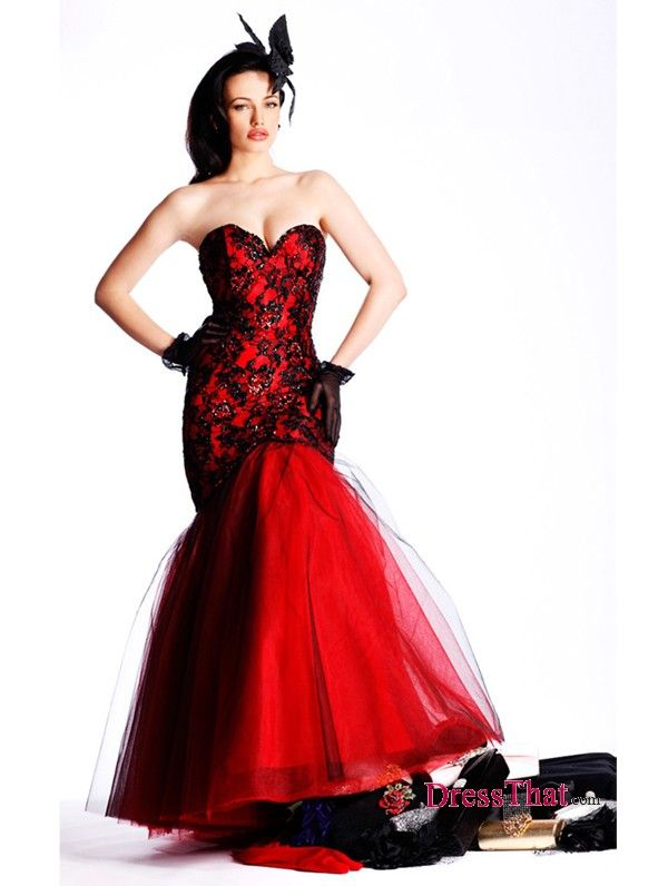 black and red dresses for prom | Black & white/Gothic Wedding ...