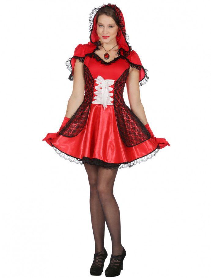 Kleid Rotkappchen Mit Cape Damen Fur Karneval Fasching Deiters