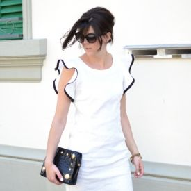 A must have of this summer: a white and black dress, and I designed this on my own!