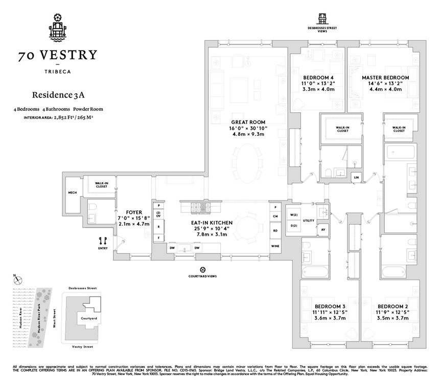 70 Vestry #3A In Tribeca, Manhattan