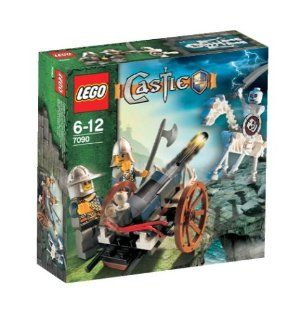 Lego Castle Crossbow Attack 7090 by LEGO. $27.95. 54 Pieces. Fpr ages 6 -12.. Includes 2 knights, skeleton and a skeleton horse! Rolling wagon has a launcher that really fires!