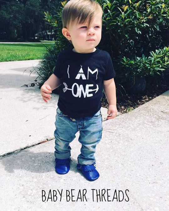 I AM ONE Birthday T Shirt Available For Ages 1 5 Baby Bear Threads On Etsy