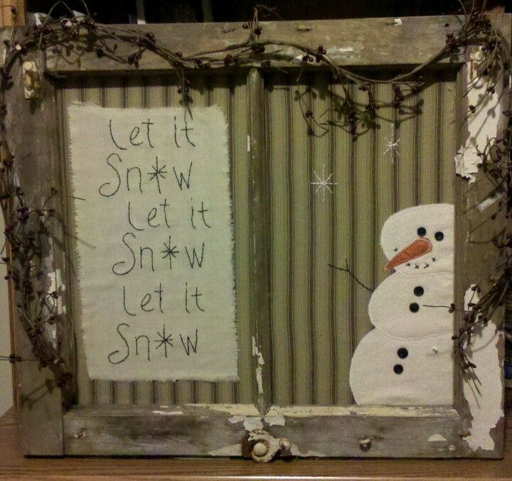 Primitive Christmas Craft Ideas Part - 47: Craft Ideas Using Old Windows - Bing Images · Old Window CraftsPrimitive  ChristmasChristmas ...