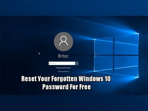 Reset Your Forgotten Windows 10 Password For Free | Microsoft