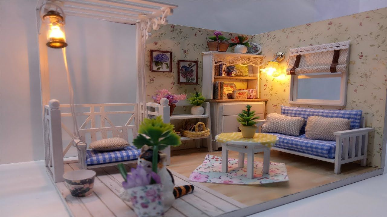 Cara Membuat Miniatur Rumah Ruangan Santai Dengan Gambar