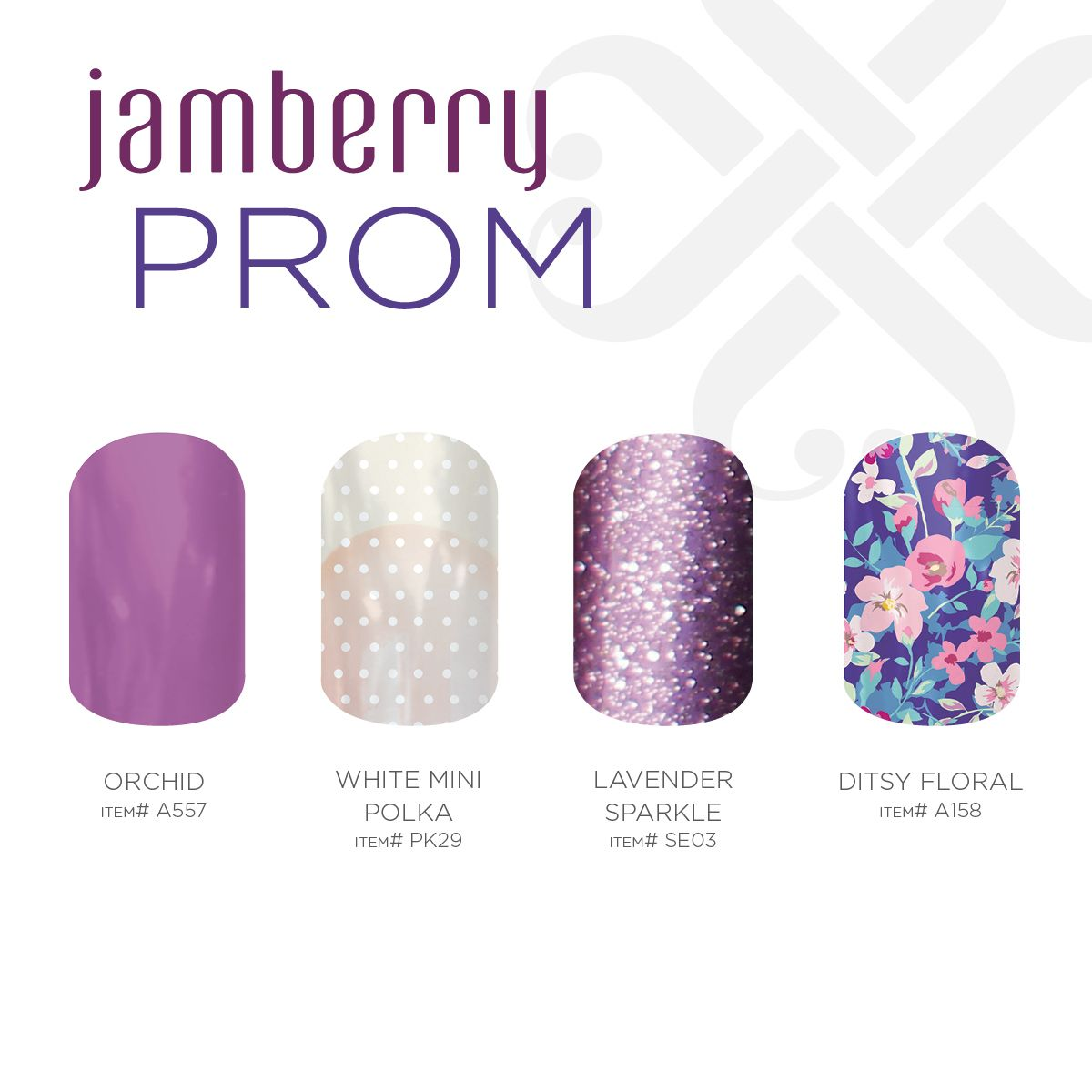 Lavender Floral and some Sparkles!!  www.strippingwithkate.jamberrynails.net