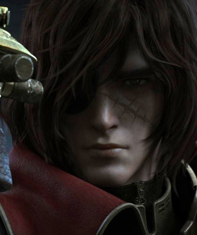 Image result for 3rd Captain Harlock in Captain Harlock Marichio