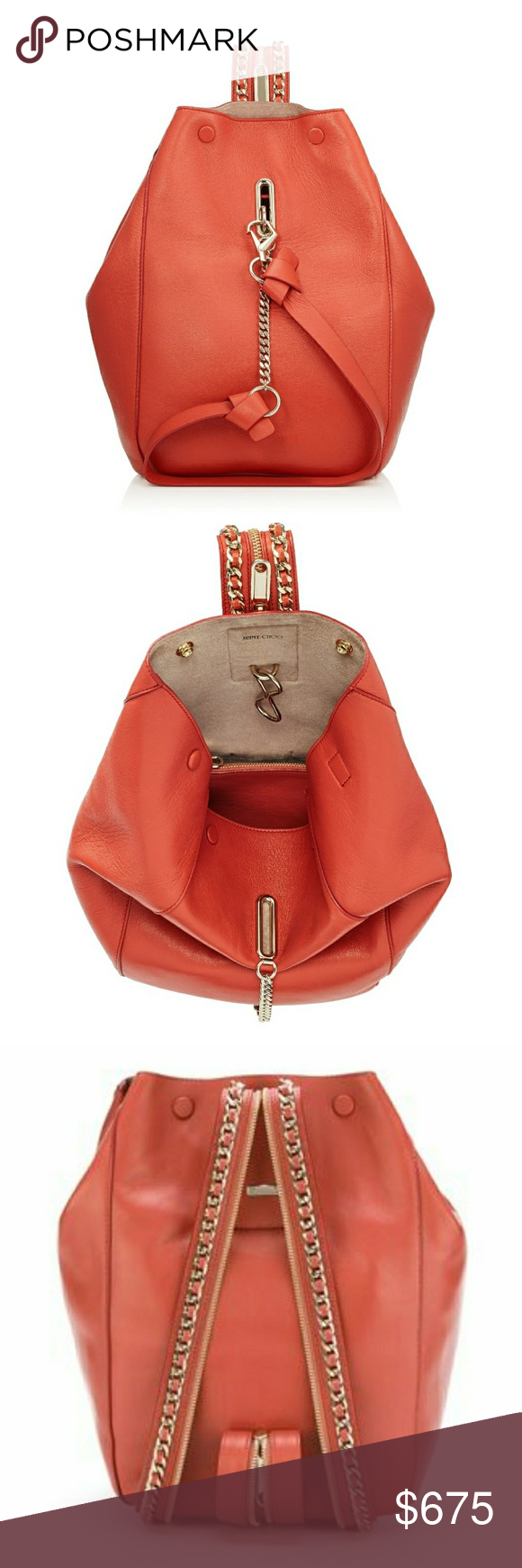 Jimmy Choo Echo Backpack In Autumn Orange 100 Authentic Brand New Without Original Tags I Believe Do Have The Nordstrom Listing It At 1800