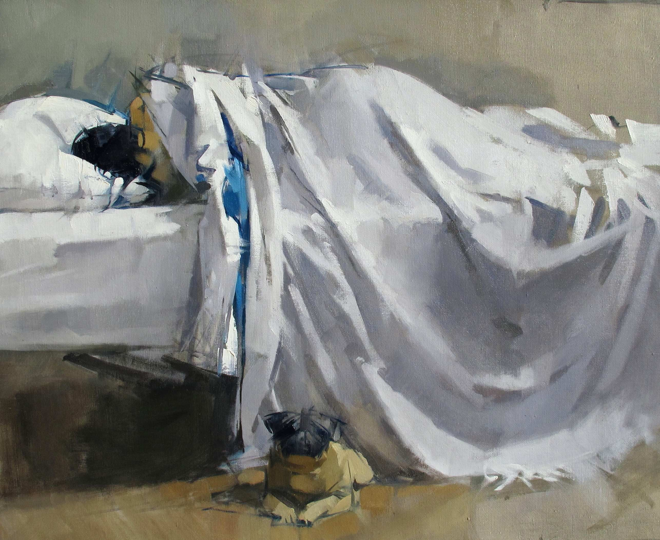 "Maggie Siner ""Pug"" , 2012, 26 x 32 ins, oil on linen"
