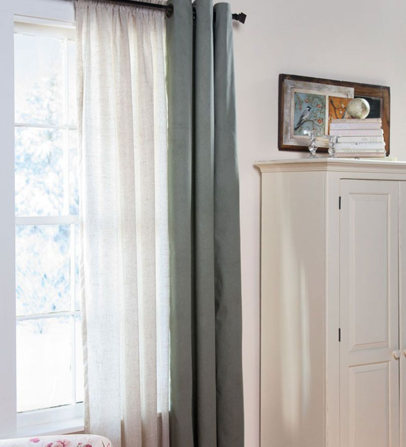 95 L Thermalogic Thermasheer Insulating Rod Pocket Semi Sheer Window Curtain Double Rodscurtain