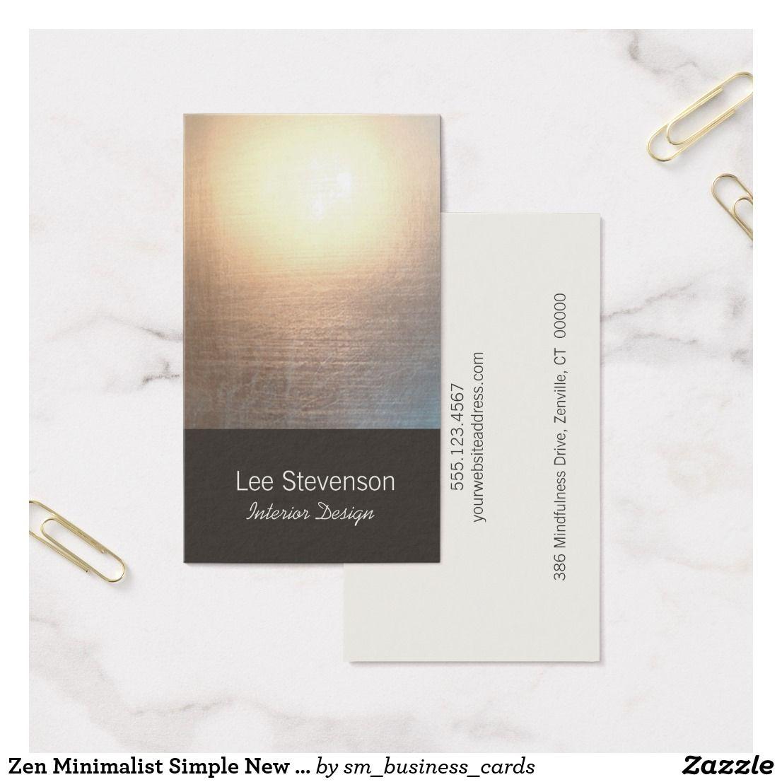Zen minimalist simple new age interior designer business card zen minimalist simple new age interior designer business card colourmoves