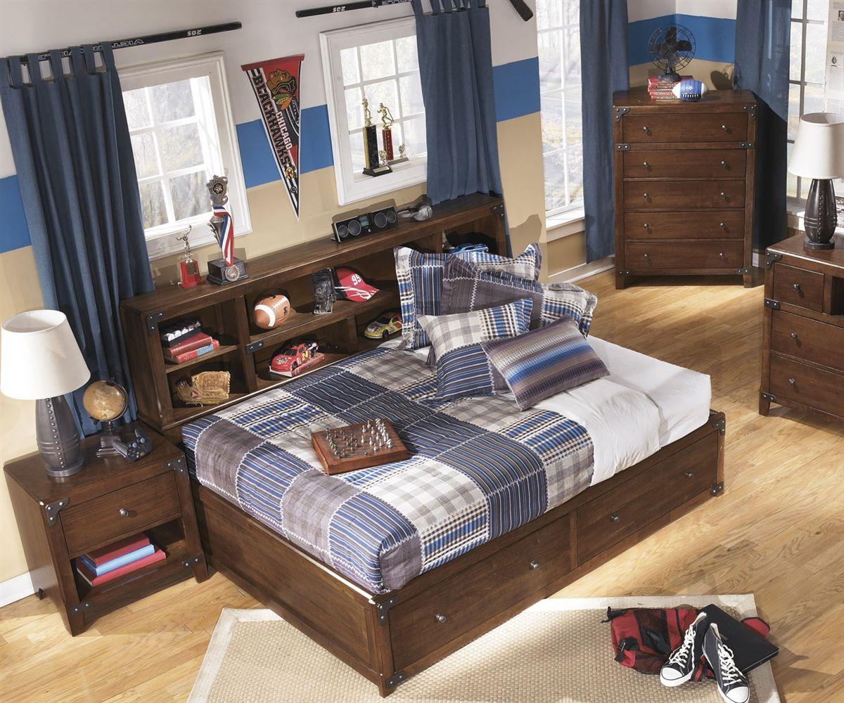 delburne full size storage bed b362