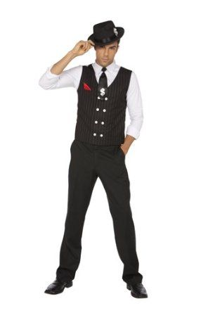 amazoncom 1920s gangster halloween costume men size xl clothing - Amazon Halloween Costumes Men