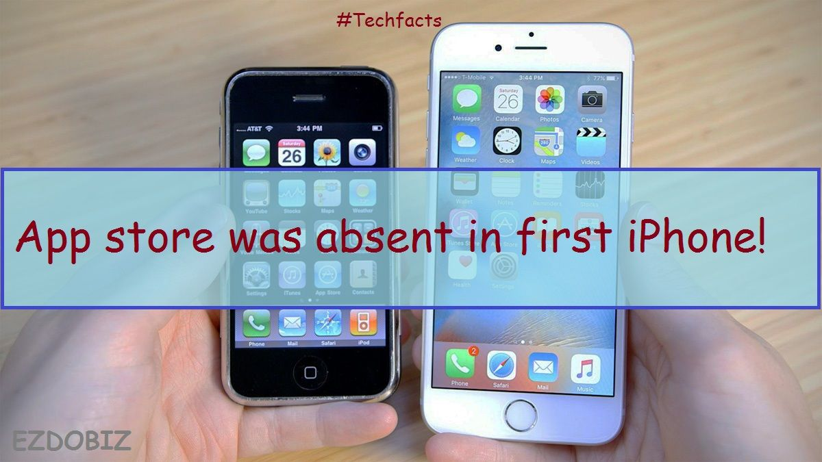 Techfacts, interestingfacts, appfacts First iphone