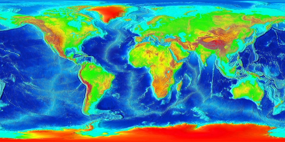 World Map How Geology Shapes The Map Of The World Geology - Global topographic map