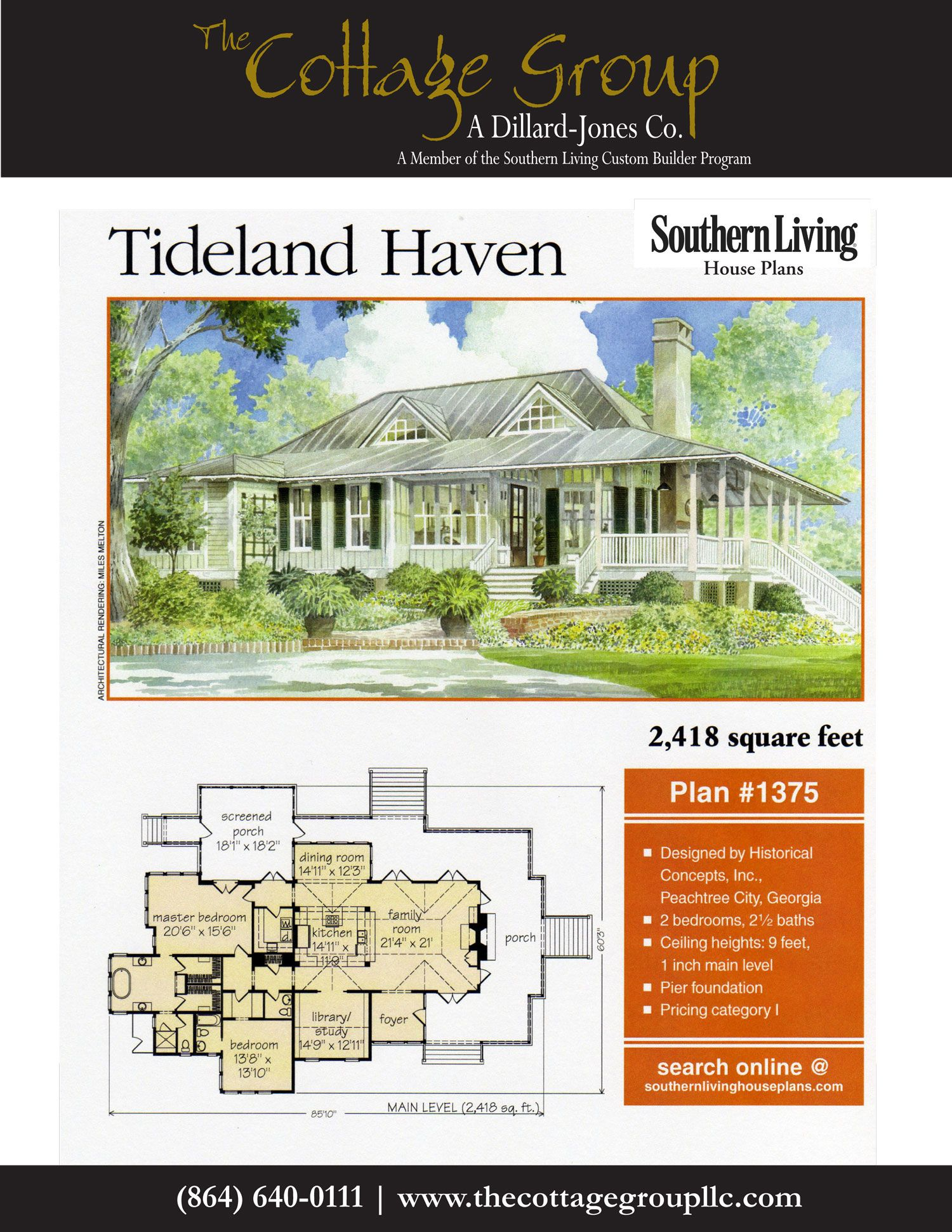 Tideland Haven The Cottage Group Southern Living House Plans Beach House Plans Southern House Plans