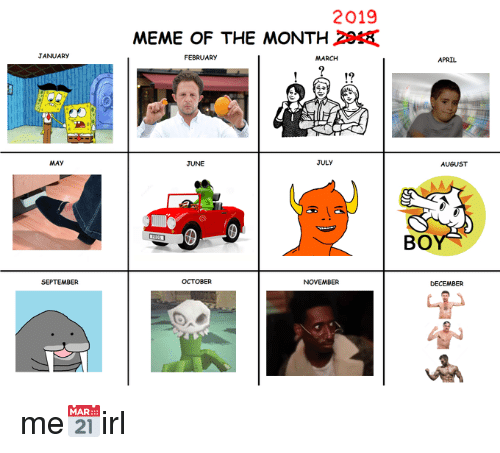 Meme Of The Month 2020 August Birthdaymonthmeme Meme Of The Month