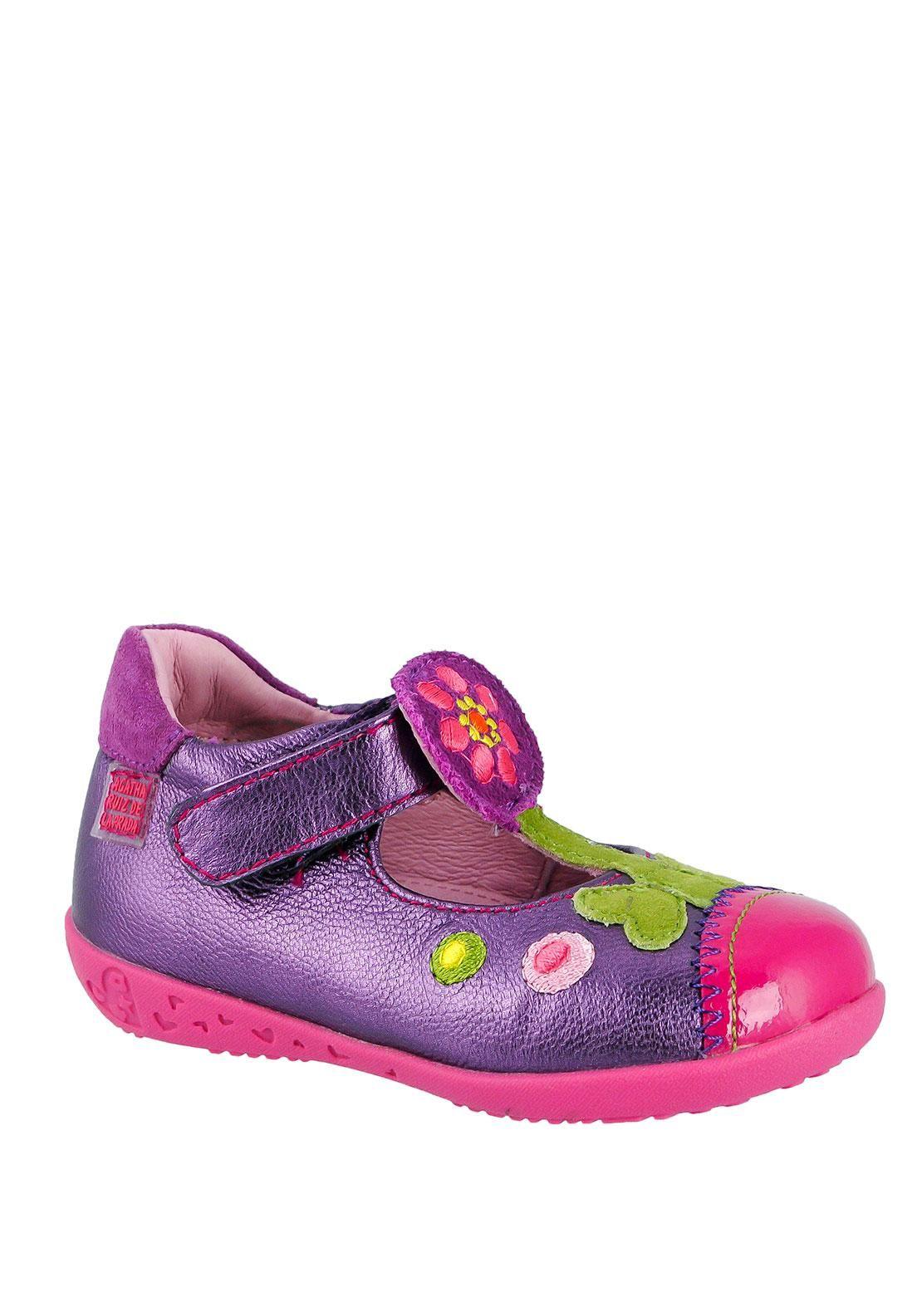 Agatha Ruiz de la Prada Flower Shoe, Purple | McElhinneys Online Department Store