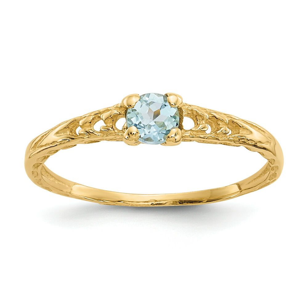 14K Madi K 3mm Sapphire Birthstone Baby Ring