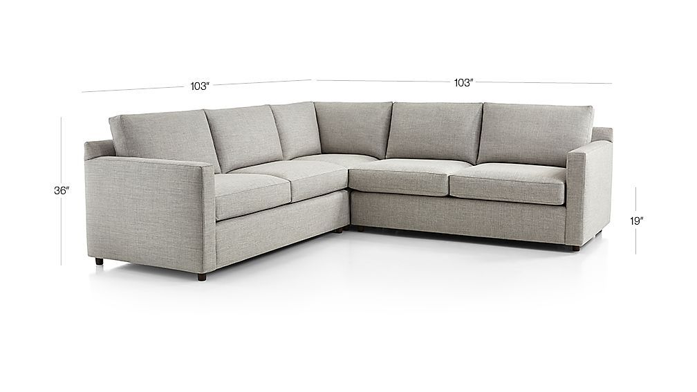 Drake 3 Piece Sectional Sofa Crate And Barrel 3 Piece