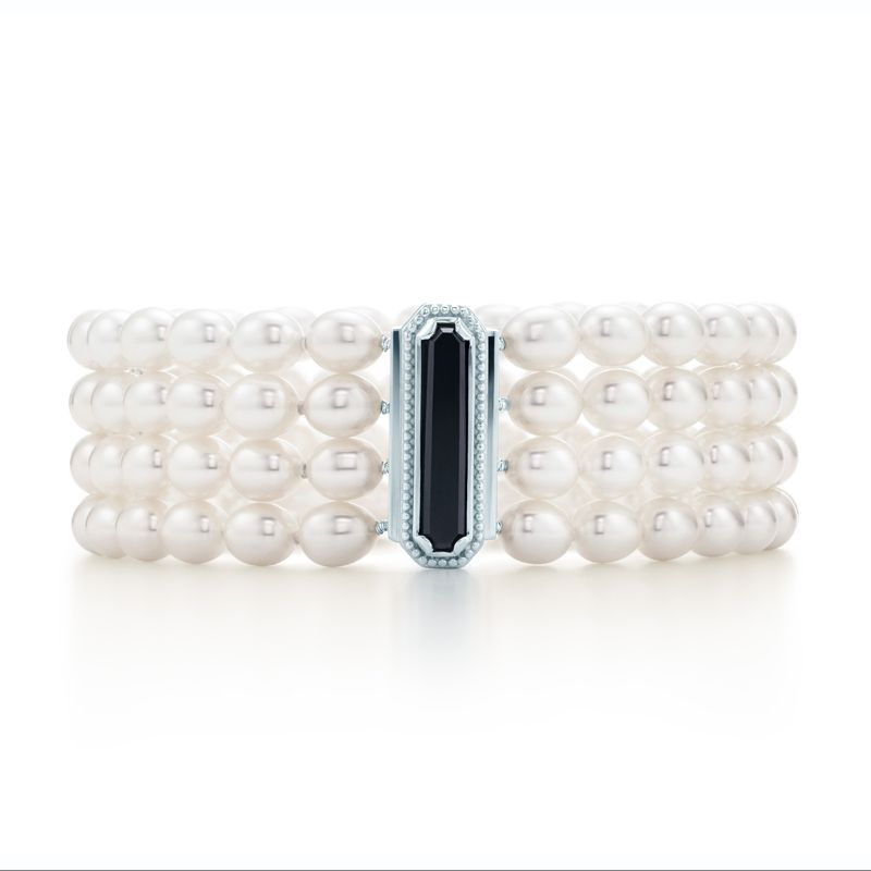Tiffany Amp Co Ziegfeld Collection Bracelet With Four Rows Of Freshwater Cultured
