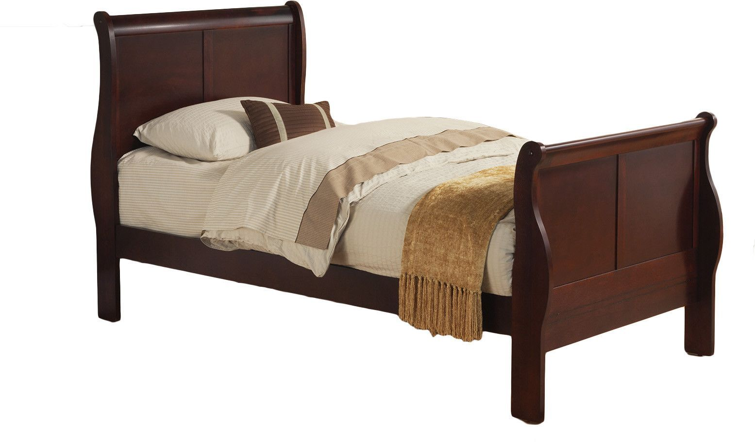 Louis Philippe Ii Twin Sleigh Bed Twin Sleigh Bed Wood Sleigh Bed Sleigh Beds